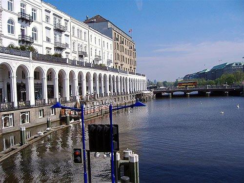 Alsterarkaden in Hamburg