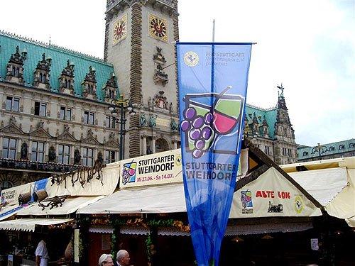 Hamburger Rathausmarkt - Stuttgarter Weinfest