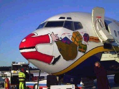 Weihnachtsmann - Luftbild - Weihnachten
