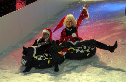 """Rodelpiste beim """"Weihnachtsmarkt Santa Pauli"""