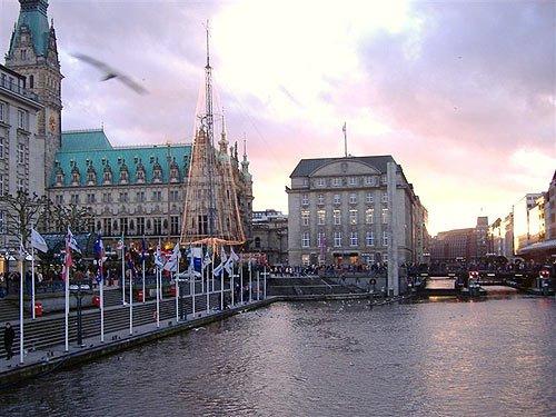 Tannenbaum Rathausmarkt Hamburg Weihnachtsbeleuchtung