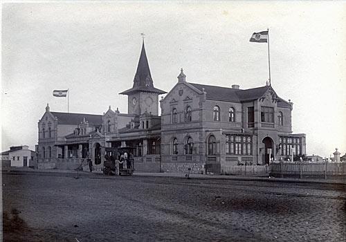 Deutsch-Suedwestafrika - Bahnhof Swakopmund