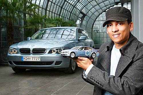 Xavier Naidoo mit BMW Hydrogen 7