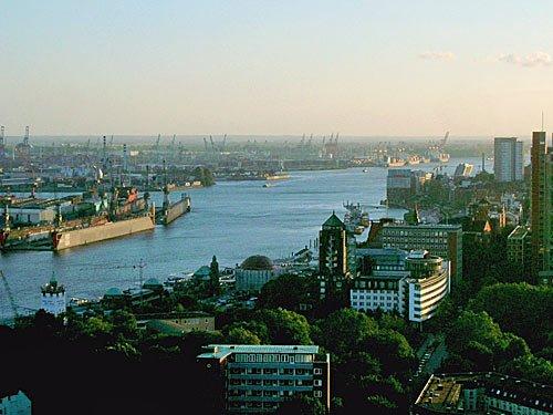 Hamburg - Elbe - Hamburger Hafen
