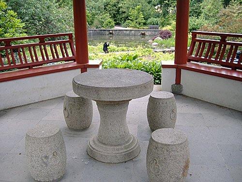 Hamburg - Botanischer Garten, im japanischen Pavillon