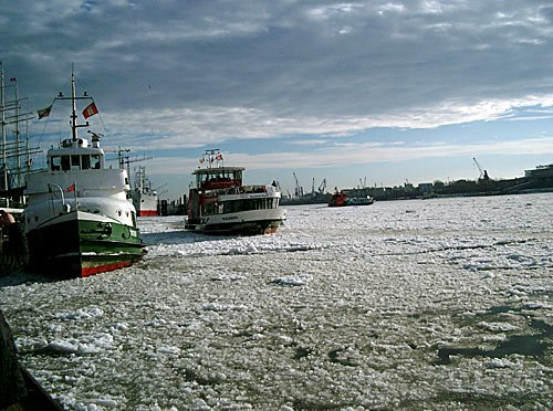 Hamburg im Winter - Hamburger Hafen