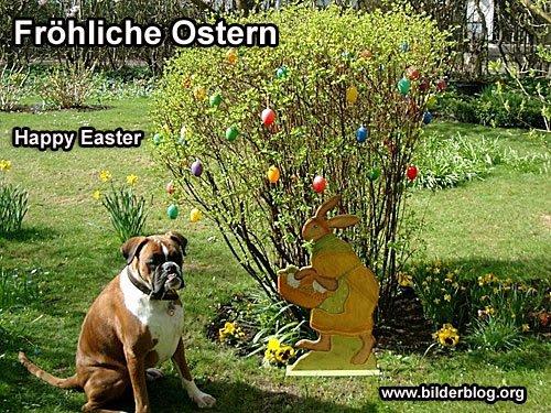 Ostern - Osterhase mit Hund