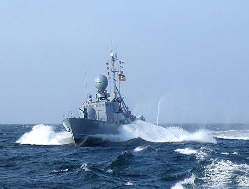 Schnellboot Nerz auf der Ostsee