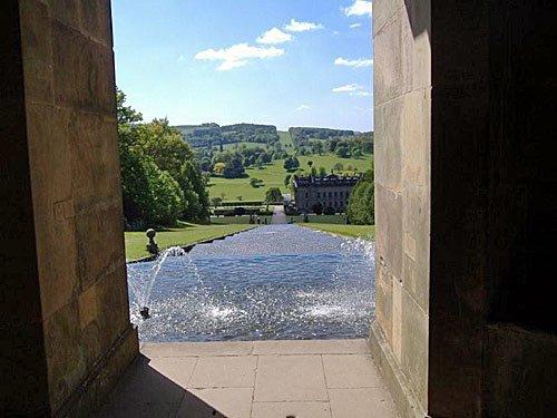 England Schlossgarten Chatsworth House