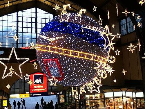 Weihnachtsbeleuchtung Hamburg Hauptbahnhof