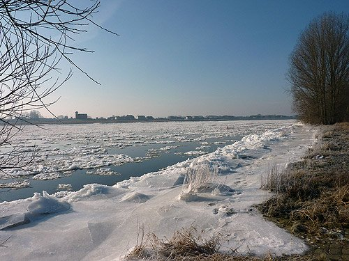 Elbe Winter Bilder Hamburg