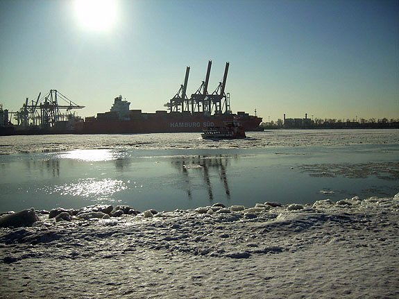 Hamburg Hafen Winter