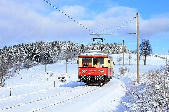 Winter Bahn im Thüringer Wald