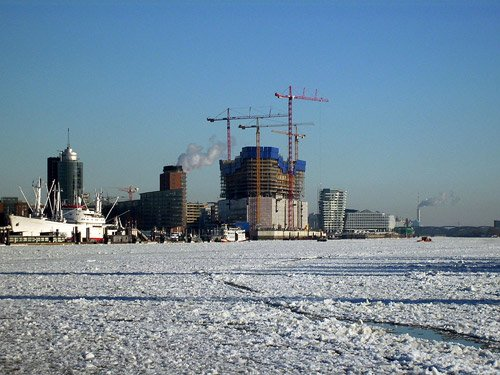 Hamburg im Winter Elbphilharmonie